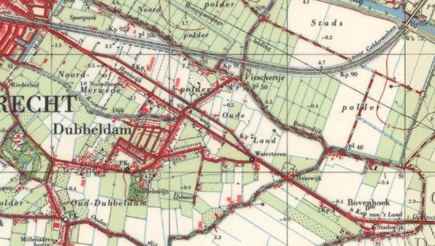 Oude kaart (voor 1970)