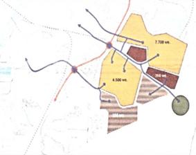 Kaart aanrijroutes Stadspolders