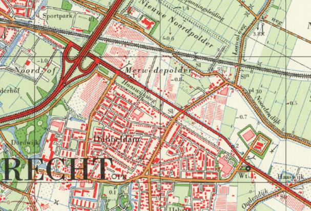 Nieuwere kaart (na 1970)