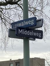 Borden Loswalweg en Middelweg