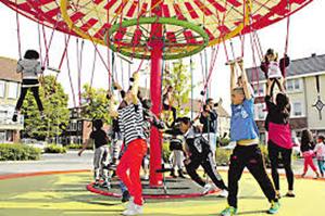 Carrousel in Speeltuin Stadspolders